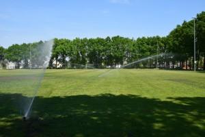 Beregeningsinstallatie trainingsveld VV Hoeven